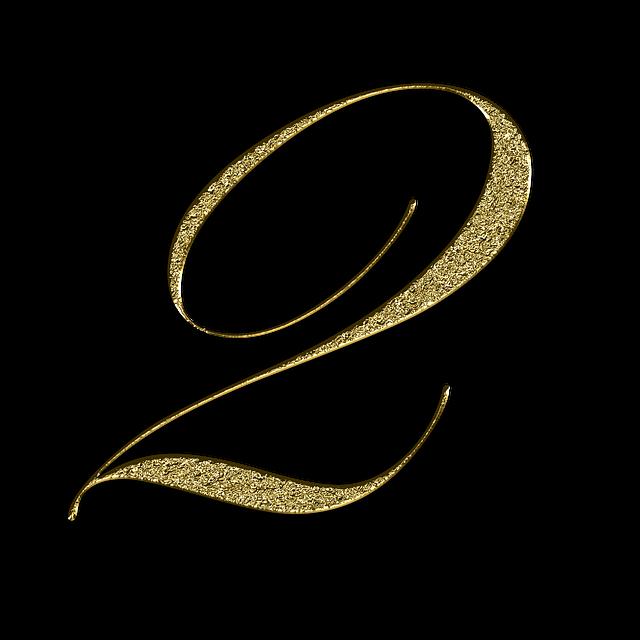 zlaté blýskavé číslo 2